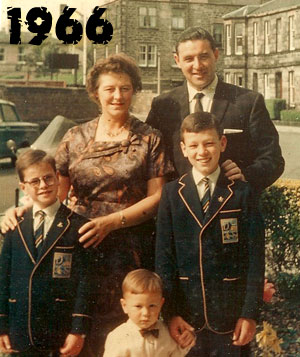 Mum and Dad with James and Jeffery..  thats me at the bottom in the bow tie!