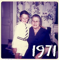 Me and Granny..   now I don't look hard now do I!!